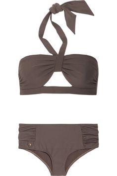 Chloe Cutout Pique Halterneck Bikini