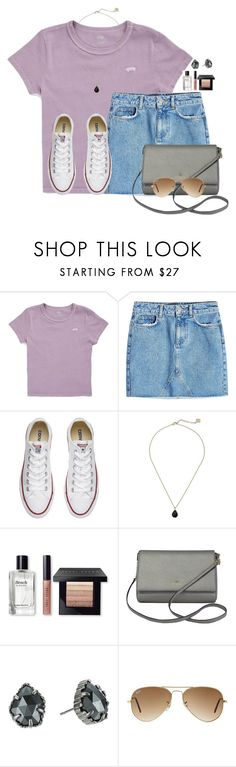 """""""love jean skirts"""" by victoriaann34 ❤ liked on Polyvore featuring Vans, Anine Bing, Converse, Kendra Scott, Bobbi Brown Cosmetics, Kate Spade and Ray-Ban"""
