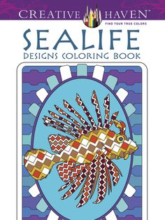 Creative Haven coloring books for adults are very popular and their books have high quality images in many different themes.  Adult Coloring Books Ocean