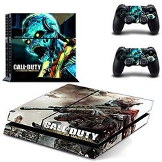 MightySticker PS4 Designer Skin Game Console 2 Controller Decal Vinyl Protective Covers Stickers f Sony PlayStation 4 Call of Duty COD Advanced Warfare Black Ghosts Glow Blue Zombie Dead Skeletons * See this great product.Note:It is affiliate link to Amazon.