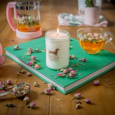 Favourite candle scents with the benefits of the essential oils used to create them. Vegan Candles, Mollie Makes, Grey Tea, Scented Candles, Wax, Awards, Essential Oils, Table Decorations, Create