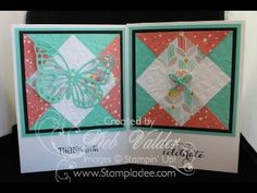 www.stampladee.com How to Build a Quilt Card with Deb Valder #stampinup #stampladee #quiltcard #saleabration