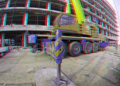 https://flic.kr/p/Eb6ByZ | Sloop Terrace-tower Boompjes Rotterdam 3D GoPro | anaglyph stereo red/cyan
