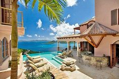 Located on Peter Bay, St. John, Caribbean, Villa Carlota is a beautiful 5-bedroom, 6.5 bath property available for rental.