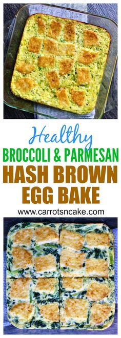 """healthy"" broccoli-parmesan-hash-brown-bake --- need to look at alternatives to store bought hashbrowns."