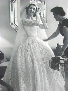 vintage wedding gown photo