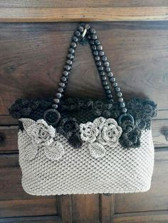 Crochet Day & Night https: Free Crochet Bag, Love Crochet, Crochet Baby, Knit Crochet, Bag Patterns To Sew, Knitting Patterns, Crochet Patterns, Crochet Handbags, Crochet Purses