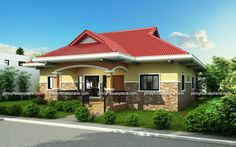 Bungalow house design philippines small bungalow house plans in the modern bungalow house design philippines 2017 . Bungalow Style House, Modern Bungalow House Design, 4 Bedroom House Designs, Bamboo House Design, Simple House Design, Bungalow House Plans, Modern House Plans, Small Bungalow, Single Storey House Plans