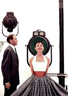 Mel Ferrer & Audrey Hepburn.