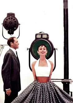 Mel Ferrer and Audrey Hepburn.