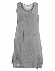 Linen dress in Grey / Mottled designed by Open End to find in Category Dresses at navabi.de