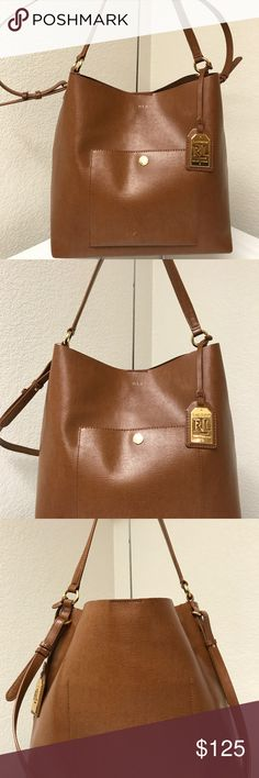 Ralph Lauren Saffiano hobo Crossbody Beautiful and elegant bag that has few used only just has a scratches in front area but overall great bag. Ralph Lauren Bags Crossbody Bags