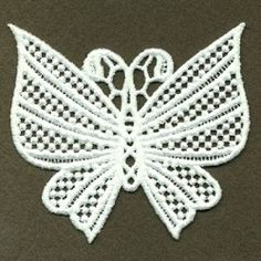 FSL Decorative Butterfly 2, 7 - 4x4 | FSL - Freestanding Lace | Machine Embroidery Designs | SWAKembroidery.com Ace Points Embroidery