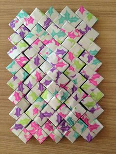 Origami, Diy And Crafts, Paper Crafts, Candy Wrappers, Candy Bags, Handmade Bags, Tutorial, Paper Design, Reuse