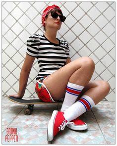 Shorts Califórnia Retrô 70s - Bruna Pepper