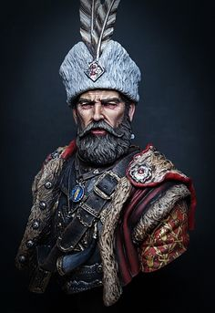 Polish Hussar Nobleman by Yi Seo-woo · Putty&Paint Character Portraits, Character Art, Anglo Saxon History, Iran Pictures, Savage Worlds, Armadura Medieval, Samurai Art, Art Sculpture, Iconic Characters