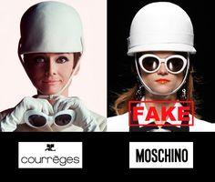 Imagem de https://undrcvrclothing.files.wordpress.com/2013/04/audrey-hepburn-no-fakes-moschino-creative-director-rossella-jardini-copied-andre-courreges-art-satire-critic-fashion-luxury-humor-chic-by-alexsandro-palombo.jpg.