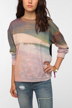 Family Landscape Sweatshirt  #UrbanOutfitters...... Love love this but it's $80 .... :/