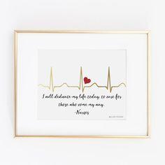 Nursing Quotes Inspirational Discover EKG I Will Dedicate My Life Today Nurse Print Nursing Student Gifts, Nursing School Graduation, Nurse Gifts, Nursing Students, Nursing Schools, Student Nurse, Nursing Profession, Nurses Week Quotes, Nurse Quotes