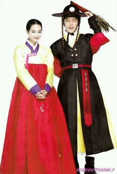 Lee Joon Gi & Shin Min Ah in Arang and the Magistrate .and don't they look resplendent? Asian Actors, Korean Actors, Korean Drama, Drama Korea, Yeon Woo Jin, Lee Joong Ki, Shin Min Ah, Arang And The Magistrate, Wang So