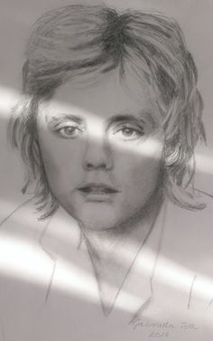 Roger Taylor (Queen) pencil drawing (portrait) by Gabriella Tóth
