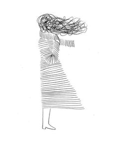 Drawing Ideas - Deep Meanings Uploaded To Simple Drawings Illus .- Drawing Ideas – Deep Meanings Uploaded To Simple Drawings Illustration: Christopher DeLore … Art And Illustration, Fashion Illustration Hair, Animal Illustrations, Inspiration Art, Art Inspo, Oeuvre D'art, Easy Drawings, Doodle Drawings, Tattoo Drawings