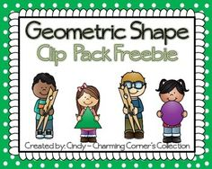 Your students will enjoy clipping the shape that the little boy/girl is holding as they build their understanding of their Geometric Shapes.  To use print, laminate, cut and add to your small group lessons, math centers or use for your fast finishers.