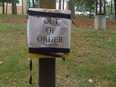 A useless University of Arkansas at Little Rock emergency call box.