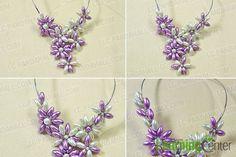 DIY Chunky Bead Flower Necklace