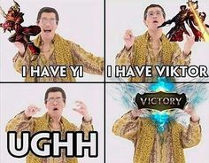 Lol, but Master Yi + Viktor really is a Victory League Of Legends Poster, League Of Legends Video, Lol League Of Legends, Bad Memes, Stupid Funny Memes, Lee Sin, Haha, League Memes, Mobile Legends
