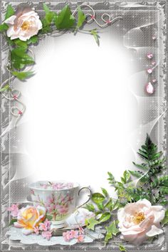 Picture Borders, Creative Flower Arrangements, Foto Transfer, We Bare Bears Wallpapers, School Murals, Birthday Frames, Frame Background, Decoupage Vintage, Borders And Frames