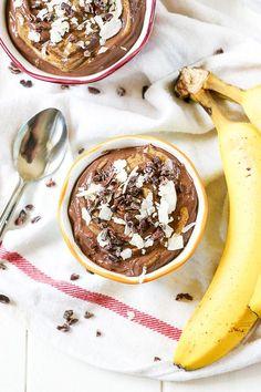 12 oz soft silken tofu ½ ripe banana ¼ cup cocoa powder 1-2 tbsp almond butter 4 tsp honey (or agave for vegan option) ½ tsp vanilla