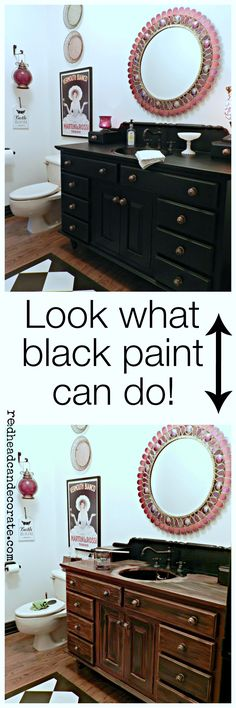 Redhead Can Decorate  Look what black paint can do!  WOW!