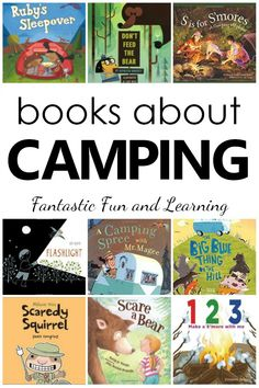 Choose the best books for your preschool camping theme or get ready for an upcoming camping trip with this collection of books about camping for kids. Books About Camping. Camping Theme Books for Preschool and Kindergarten Preschool Books, Preschool Themes, Classroom Themes, Book Activities, Preschool Kindergarten, Preschool Camping Theme, Camping Theme For Classroom, Forest Theme Classroom, Camping Books