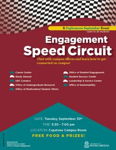 Get connected on campus at the University of South Carolina and start with the Engagement Speed Circuit! #uofsc #getconnected #sophseptember14 #sophomores