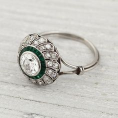 Vintage Rings Image of Carat Vintage Diamond and Emerald Engagement Ring You are going to wear this? Emerald Ring Vintage, Vintage Diamond, Vintage Rings, Vintage Jewelry, Emerald Rings, Ruby Rings, Antique Jewelry, Sapphire Rings, Blue Sapphire