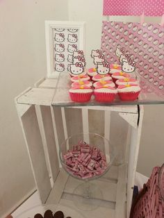Hello Kitty party. Candy Station. Candy bar. mesa de postres y dulces. fiesta