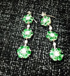 @renadkiss #greendiamond #green #diamond #earings #customjewelry #flowerdesign... #customjewelry #Diamond #earings #flowerdesign #green #greendiamond Diamond Earrings, Drop Earrings, Green Diamond, Custom Jewelry, Flower Designs, Belly Button Rings, Flowers, Personalized Jewelry, Drop Earring
