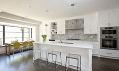 White modern Contemporary Kitchen Island Stools with sink