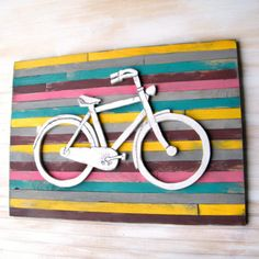 Wooden Bicycle Art Pallet | Etsy