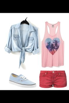 A great summer beach outfit