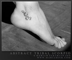 Abstract Tribal Scorpio Tattoo