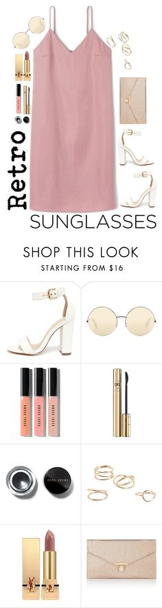 """""""Retro Sunglasses"""" by kmeowj ❤ liked on Polyvore featuring Liliana, Victoria Beckham, Bobbi Brown Cosmetics, D&G, MANGO, Yves Saint Laurent and Accessorize"""