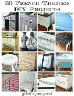 23 French-Themed DIY Projects - see these and more!  girlinthegarage.net