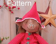 This pattern is in an E-pattern format. You will receive a color print, full-sized pattern pieces and instructions to make this adorable Raggedy Elf Doll (19 doll, 23 to tip of her hat).  This is for an instant download pattern. Your pattern will be available for download in your Account, under Purchases after you pay. You must have the most recent Adobe Reader to open, read and print this pattern as its a PDF File (you can download that for free at www.adobe.com). This doll may be made and…