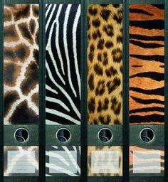 Lever Arch File Label Safari Aj446