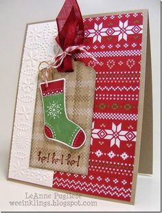 fms155 - SU - 52 (Christmas) Card Pickup, Christmas, Freshly Made Sketches, Good Greetings, Project Life Holiday Cheer, Stampin Up, Stitched Stockings