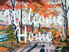 """The perfect gift for a host/ess this holiday season! @treynyc's """"Welcome Home"""" captures that perfect feeling of rounding the last bend, knowing that a warm home awaits you just around the corner."""