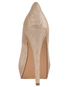 Forever 21 gold glitter heels