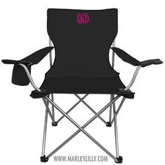 Monogrammed Tailgate Chairs are perfect for summer, tailgating and so much more!